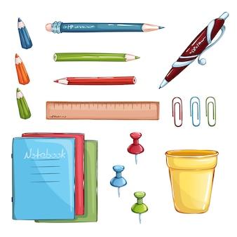 Ensemble de fournitures scolaires