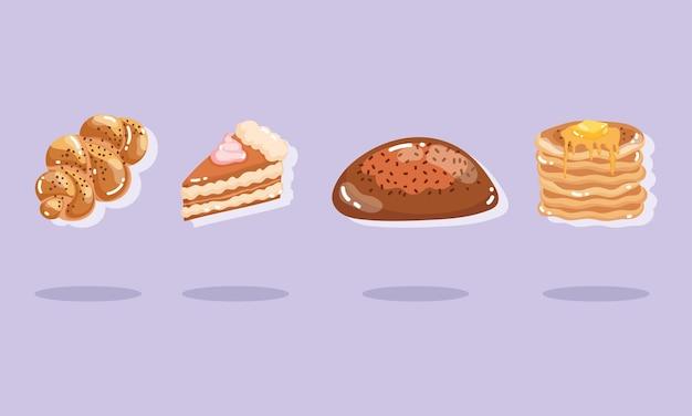 Ensemble frais de boulangerie