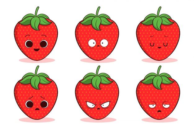 Ensemble de fraise mignon