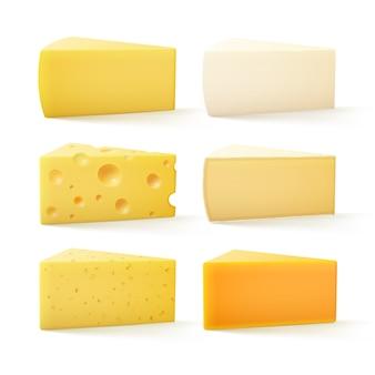 Ensemble de fromage suisse cheddar bri parmesan camembert