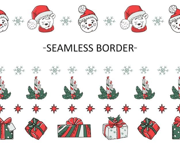 Un ensemble de frontières sans soudure de noël
