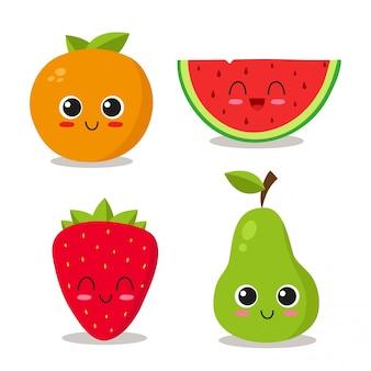 Ensemble de fruits frais