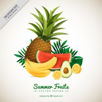 Ensemble de fruits rafraîchissantes
