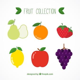 Ensemble de fruits savoureux