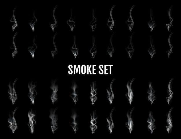 Ensemble de fumée réaliste numérique.
