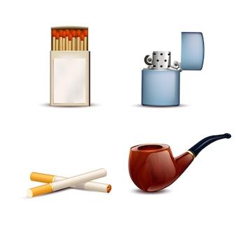 Ensemble fumeur