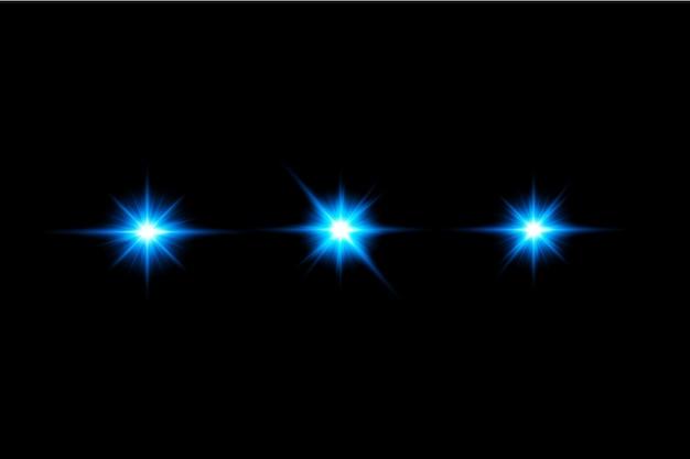 Ensemble de fusées éclairantes bleues eps