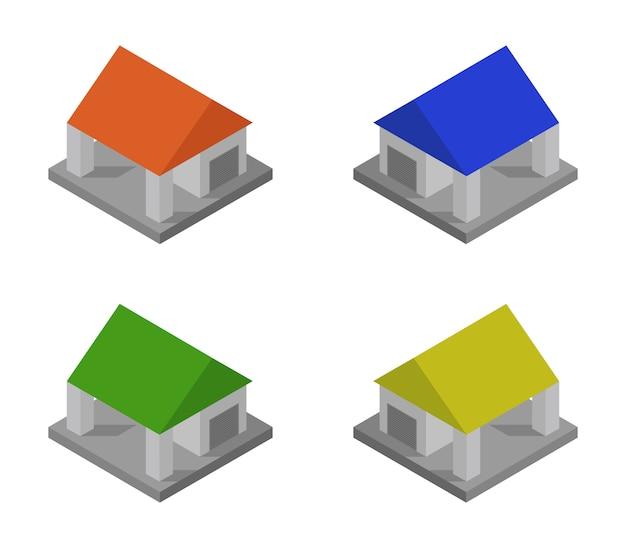 Ensemble de garage isométrique