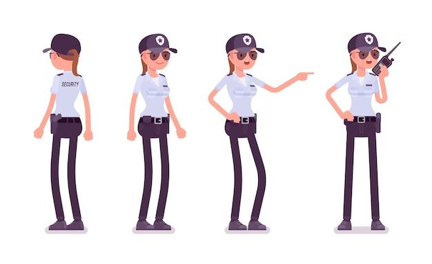 Ensemble de gardien de sécurité féminin