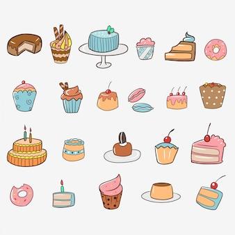 Ensemble de gâteau sucré