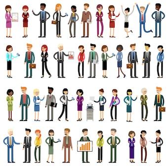 Ensemble de gens d'affaires, employés de bureau