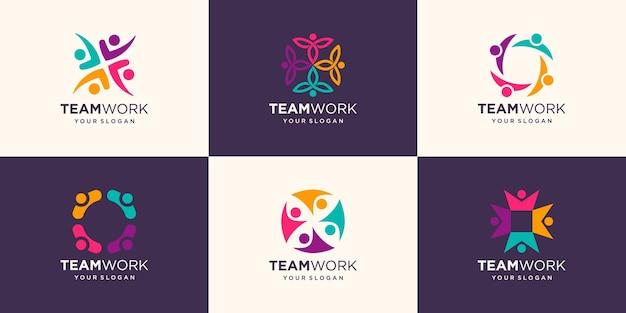 Ensemble de gens d'affaires ensemble. logo d'illustration