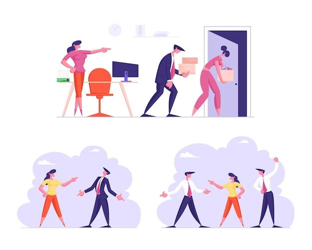 Ensemble de gens d & # 39; affaires licenciés du travail