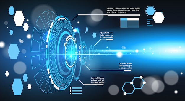 Ensemble de graphiques de modèle de fond abstrait tech éléments futuristes de l'ordinateur et graphique