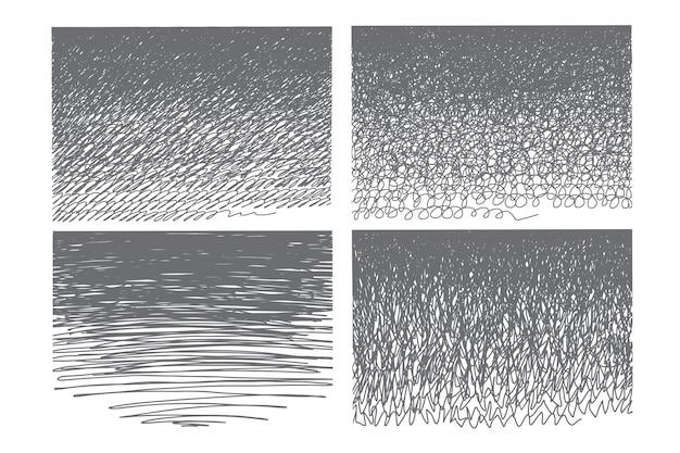 Ensemble de gribouillis dessinés à la main
