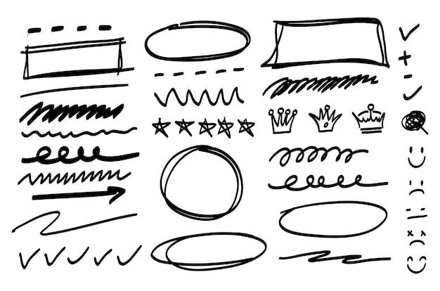 Ensemble de griffonnage doodle
