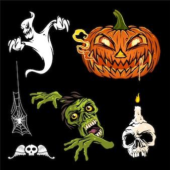 Ensemble d'halloween, élément de conception