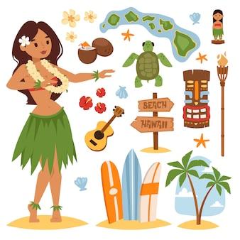Ensemble d'hawaï.