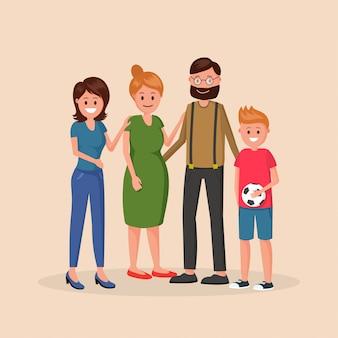 Ensemble d'histoire familiale