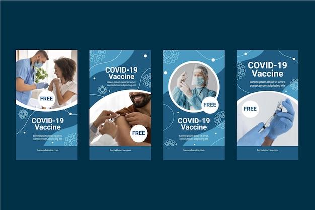 Ensemble d'histoire instagram de coronavirus plat organique