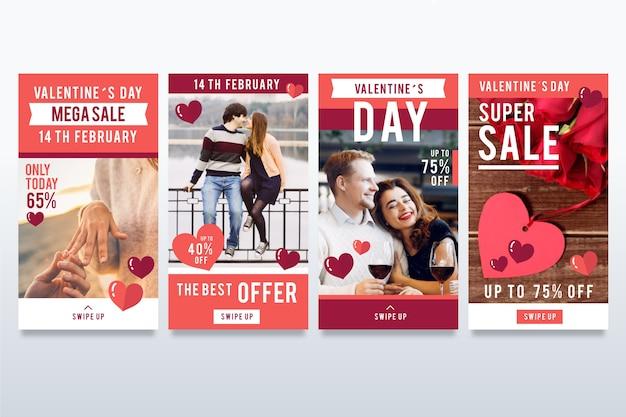 Ensemble d'histoire de vente de la saint-valentin