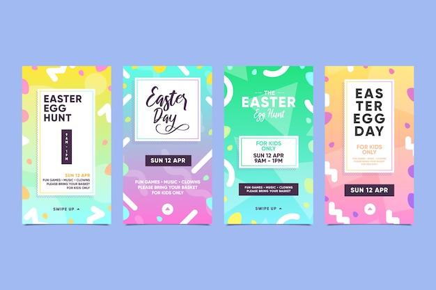 Ensemble d'histoires insta pour le jour de pâques