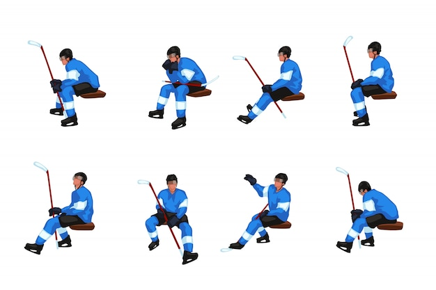 Ensemble de hockey assis