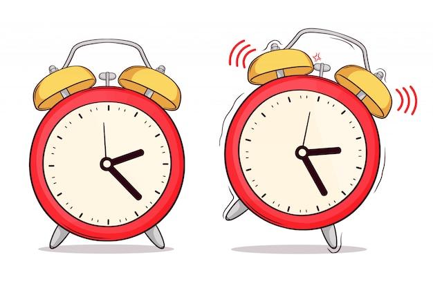 Ensemble d'horloge dessinée à la main