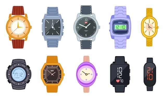 Ensemble d'horloges intelligentes numériques