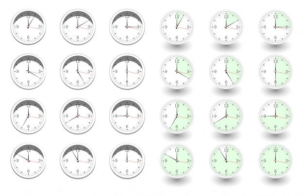 Ensemble d'horloges pour chaque heure