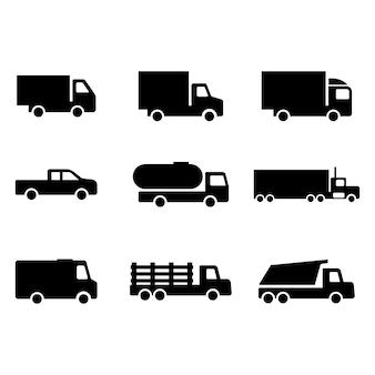 Ensemble d'icône de camion