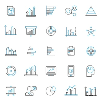 Ensemble d'icône graphique et graphique
