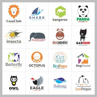 Ensemble d'icône de logo animal