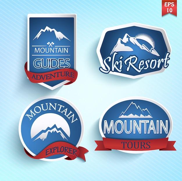 Ensemble d'icône de montagne