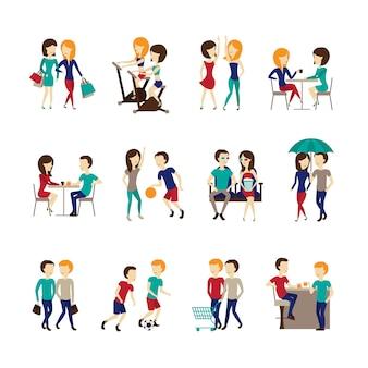 Ensemble d'icônes amis