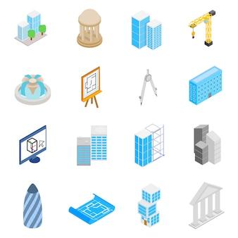 Ensemble d'icônes d'architecture