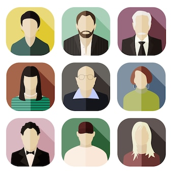 Ensemble d'icônes d'avatar