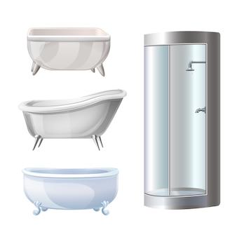 Ensemble d'icônes de baignoire