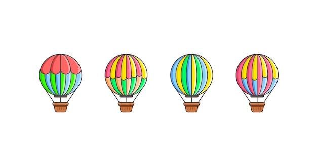 Ensemble d'icônes de ballon isolé.