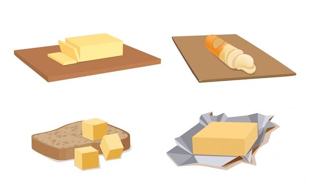 Ensemble d'icônes de beurre