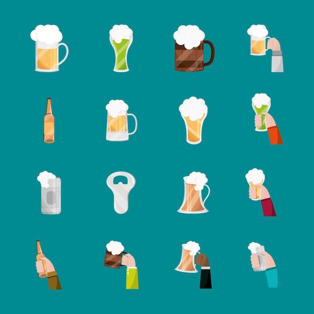 Ensemble d'icônes de bière
