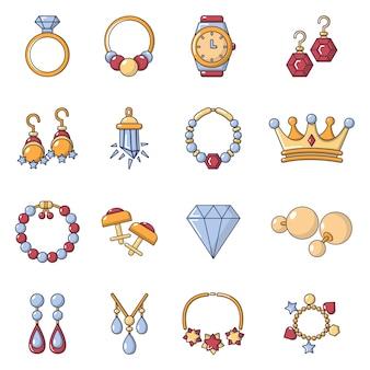 Ensemble d'icônes de bijouterie
