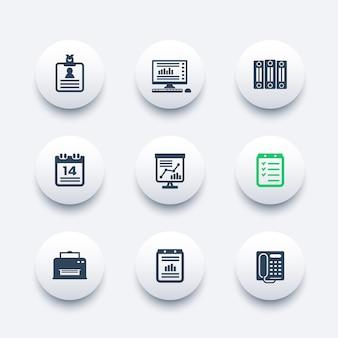 Ensemble d'icônes de bureau