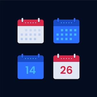 Ensemble d'icônes de calendrier
