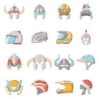 Ensemble d'icônes de casque