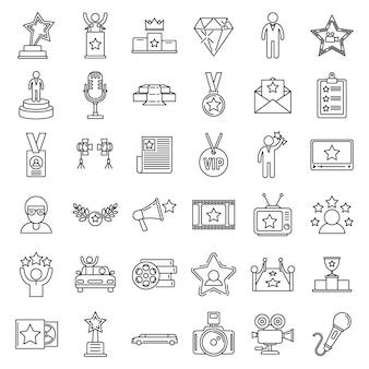 Ensemble d'icônes célèbres de célébrités