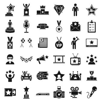 Ensemble d'icônes de célébrités