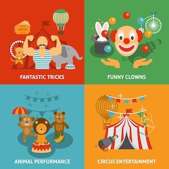Ensemble d'icônes de cirque