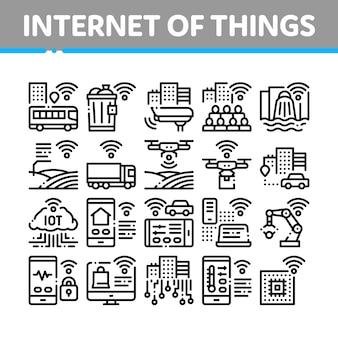 Ensemble d'icônes de collection internet des objets