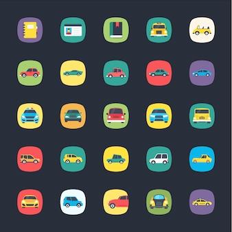 Ensemble d'icônes colorées d'application